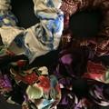 Oriental patterned Scrunchie