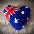 Australia Heart keyring