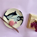 Ceramic unique Plates, Abstract Art Pltes, Pottery landscape design, Designers'