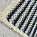 Teal, Cream & Grey Handmade Crocheted Bobble Newborn Baby Blanket