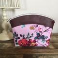 Medium Makeup Purse/Toiletry Bag - Pink floral