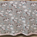 Unicorn Minky cot blanket