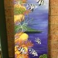 Underwater scene on canvas.