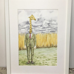 Giraffe Man art print