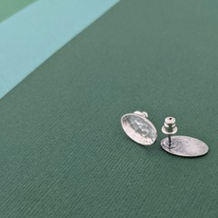 Oval Earrings - Sterling Silver