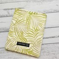 Padded kindle sleeve or e-reader cover. Padded sleeve with closure. Palm leaf