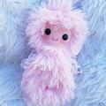 handmade pink bebe yeti toy