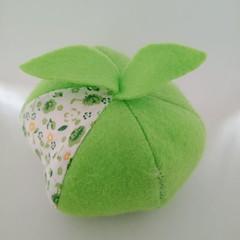 Green fruit shaped pincushion / sewing accessory