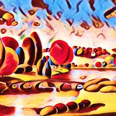 Candy Garden Original Digital Art Print Signed