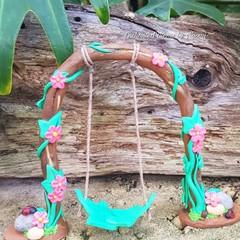 Pink Daisy Flower Fairy Swing