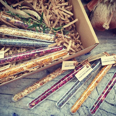 Personalised Organic Herbal Tube- Wedding Favours- Organic tea- Gift for her