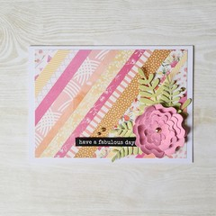 Have A Fabulous Day, Birthday Card, Womens Birthday Card, Floral Card, For Mum