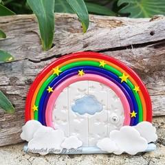 Rainbow and Clouds Fairy Door *Pre-Order*