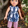 Koala Blue top/pants set for 45cm/18 inch doll