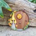 Sunshine Yellow Mushroom Fairy Door