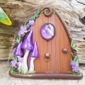 Shimmer Purple Mushroom Fairy Door