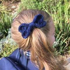 Back to School Love Hearts Hair Bows Navy Green Maroon and Yellow