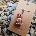 Polymer clay gingerbread girl charm