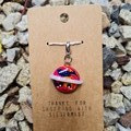 Polymer clay planet charm