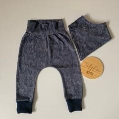 Harem Pants, bandana bib set, baby leggings, baby gift, forest animals print