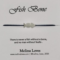 Bracelet - Fish Bone - Stainless Steel
