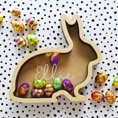 Easter Bunny drop box / Money box - Personalised