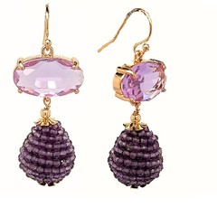 The Kyle gemstone drop Earring 12 Gemstone colours available