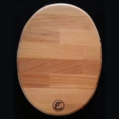 Oval Shaped European Oak Chopping Board