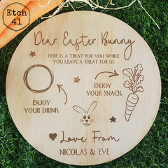 Easter Bunny Snack Plate - Personalised