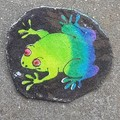 Cute frog brooch. Purple and green. Ideal gift for frog coolectors