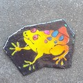 Cute frog brooch. Yellow and green. Ideal gift for frog coolectors