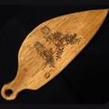 Hevea (Rubberwood) Serving Platter - Sturt's Desert Pea Engraving