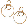 Sea Dreaming double ring 14k Gold or Sterling Silver Earrings