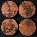 Australian Wildflower Themed Coasters - Recycled Hardwood