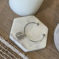 Australian Silver Rams Head Shilling  On a stainless steel bangle