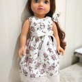 Sleeveless Party Dress for 45cm 18 inch doll. English Roses