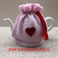 Easy Knitted Tea Cosy with Draw String Top ..Ideal for Beginners..PDF Only