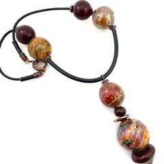 Glass art necklace: Galaxies collection