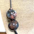 Unique Glass Art necklace - Galaxies collection