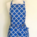 Royal Blue Ladies Kitchen Apron FREE Tracked Post!