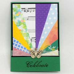 """Any Occasion Card - """"Celebrate"""" Green"""