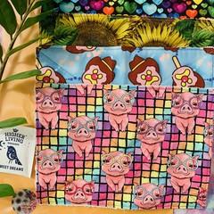 Kitchen dish cloths 4 pack pigs, ice creams, sunflowers, rainbows