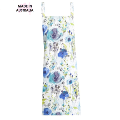 Blue Flower Cross Back Apron FREE Tracked Post !