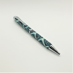 Pen - blue spirals