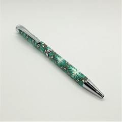 Pen - green and copper