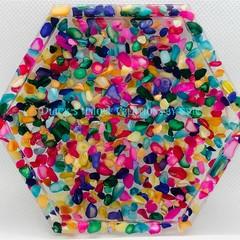 COASTER ~ Resin ~ Dyed Sea Shells