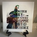 Witch by nature - wall plaque
