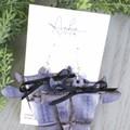 """""""Daisy"""" Cow, Genuine Leather Earrings, Purple/ Black"""