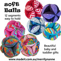 soft ball for baby or toddler: with 12 segments for easy holding