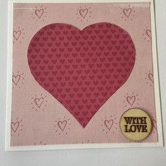 With Love Valentines Day /Anniversary Card